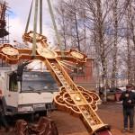 Фото 14. Освящение креста в Серафимовском храме г. Хотьково
