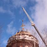 Фото 17. Освящение креста в Серафимовском храме г. Хотьково