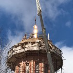 Фото 18. Освящение креста в Серафимовском храме г. Хотьково