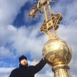 Фото 19. Освящение креста в Серафимовском храме г. Хотьково