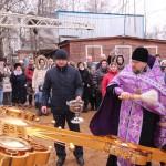 Фото 6. Освящение креста в Серафимовском храме г. Хотьково