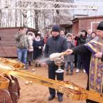 Фото 7. Освящение креста в Серафимовском храме г. Хотьково