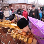 Фото 9. Освящение креста в Серафимовском храме г. Хотьково