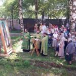 Фото 1. Престольный праздник в Серафимовском храме города Хотьково