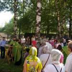 Фото 2. Престольный праздник в Серафимовском храме города Хотьково